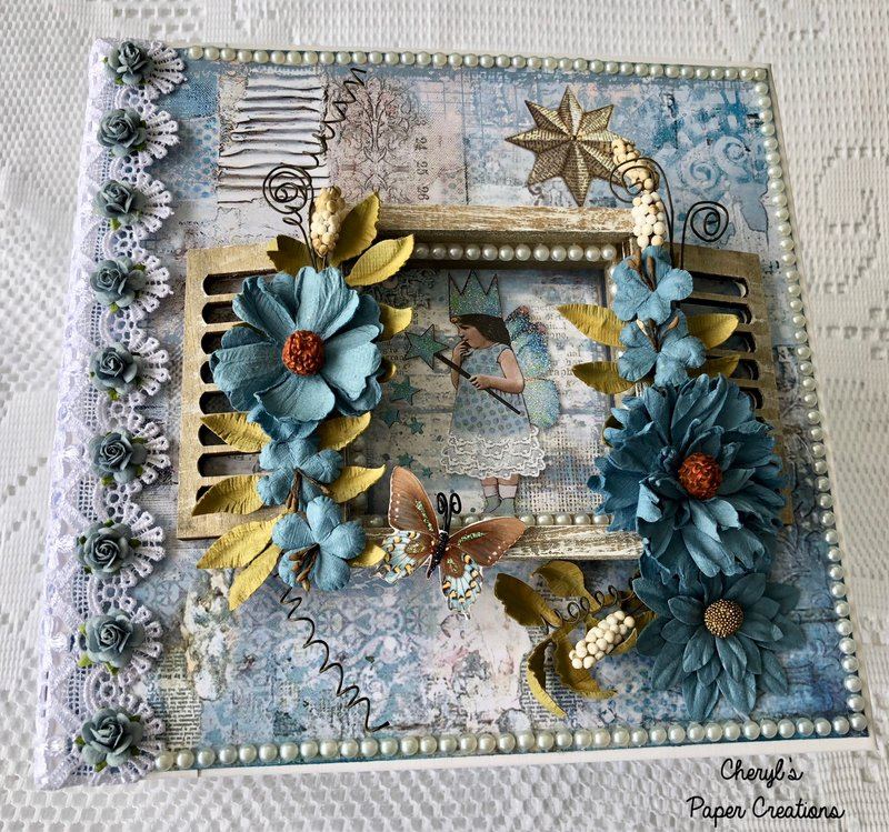 Stamperia Blue Star Mini Album By Cheryl's Paper Creations