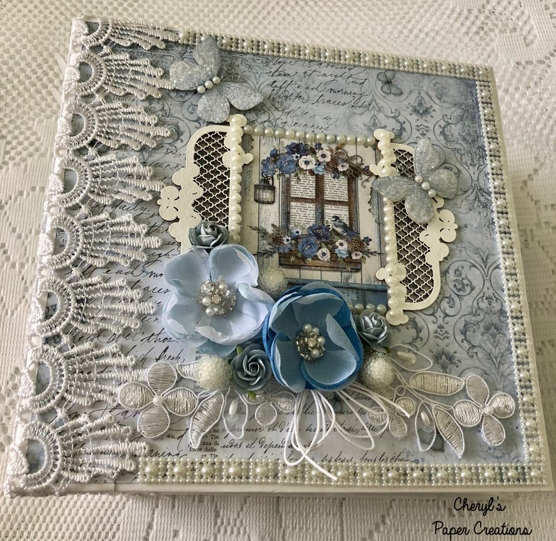 Stamperia Blue Land Mini Album By Cheryl's Paper Creations