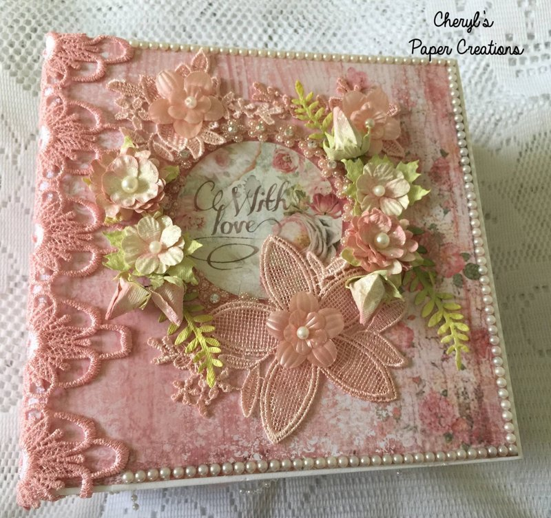 "Stamperia ""Dream"" Mini Album By Cheryl's Paper Creations"