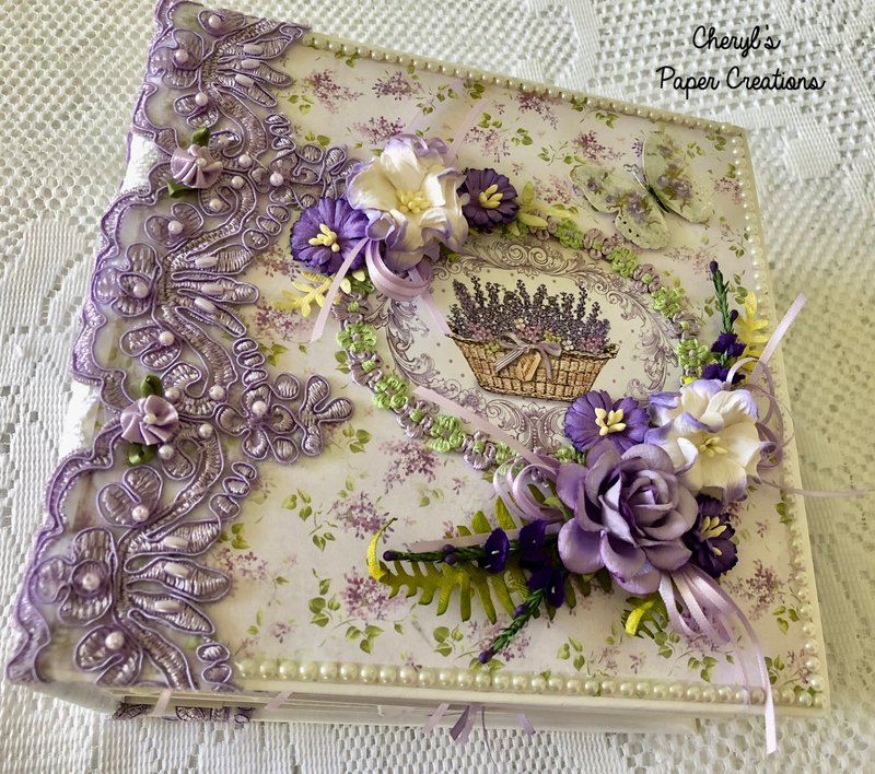 Stamperia Provence Mini Album By Cheryl's Paper Creations
