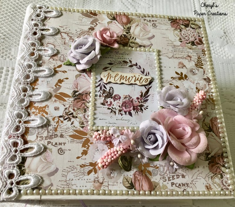 Prima Violet Frost Mini Album By Cheryl's Paper Creations