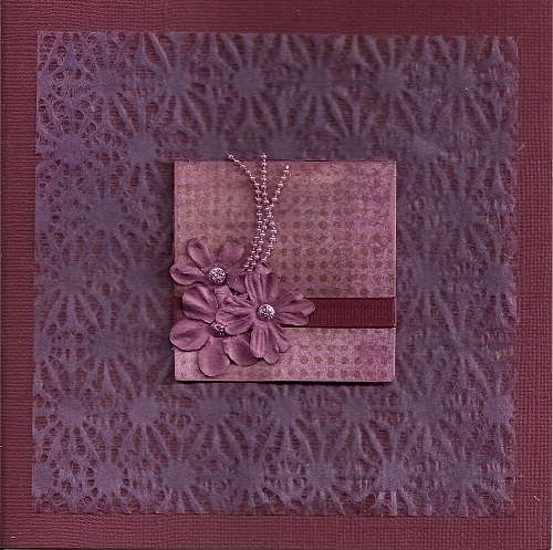 A card in violet