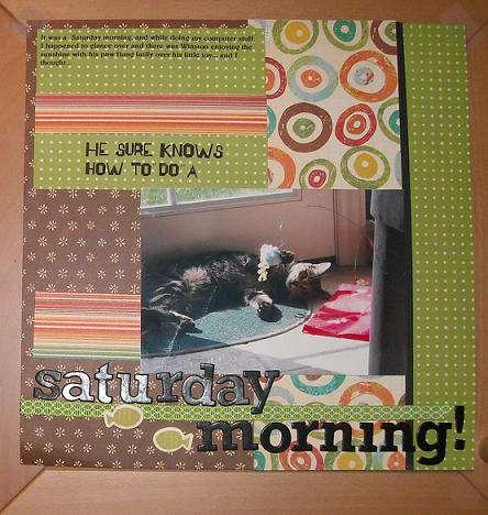 Saturday Morning for Feb Scrap your Pet