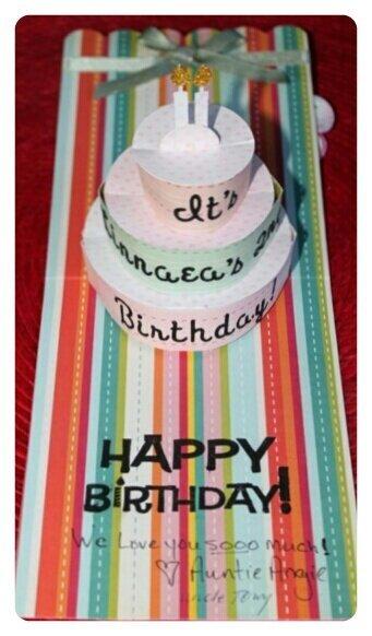 Linnaea's 2nd Birthday Cake card