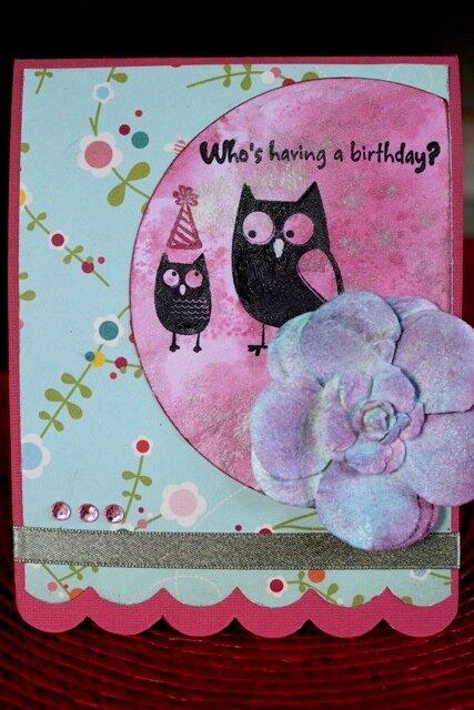 Linnaea's 2nd Birthday card