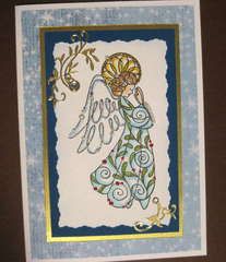 Blue Angel Christmas card