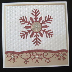 Snowflake Card in Rose Gold