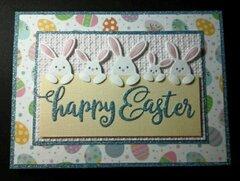 Cute Bunny Border Easter card