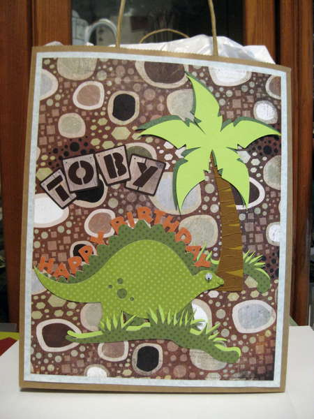 Gift Bag for Dinosaur Card