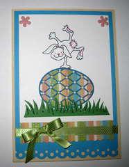 Honeypop Carrot Bunny Card