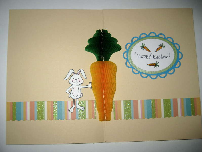 Inside the Easter Honeypop card