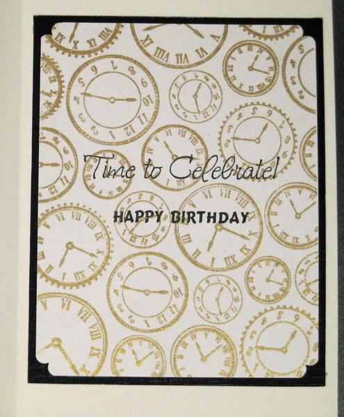 Inside the Time to Celebrate Card