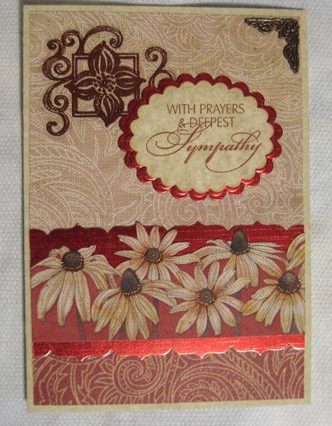 Sympathy card, Daisies
