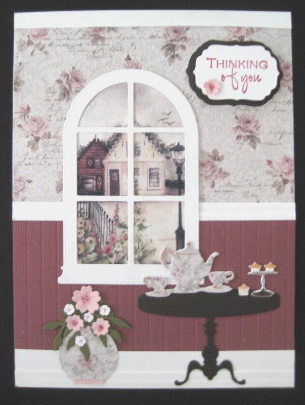 Tea Time widow card