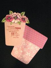 Flower Pot Birthday card insert
