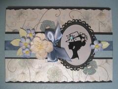 Vintage silhouette card