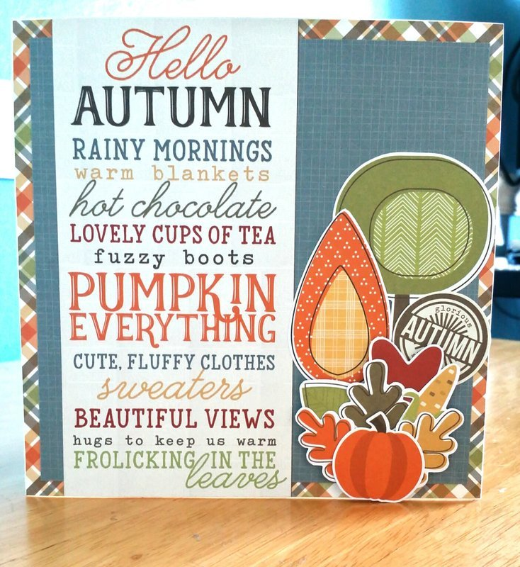 Fall Card using Simple Stories Hello Fall