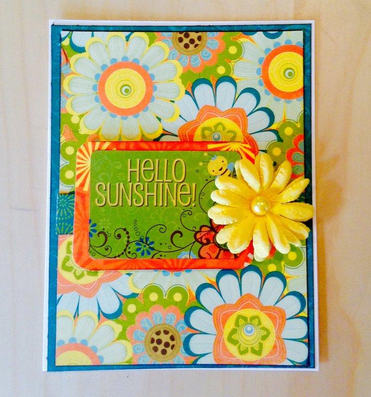 Hello sunshine -thinking of you card