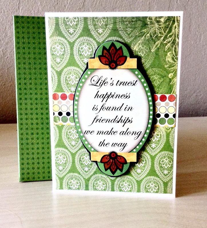 Friendship card with envelope