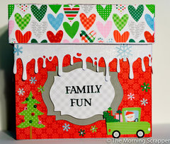 Holiday countdown file folder box.