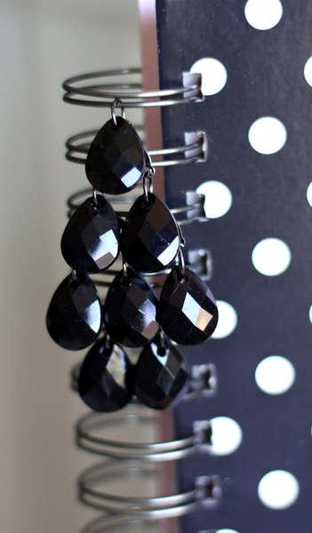 Close Up of Black T Drops