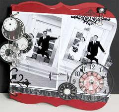 Fun Black/Red/White Wedding Scrapbook