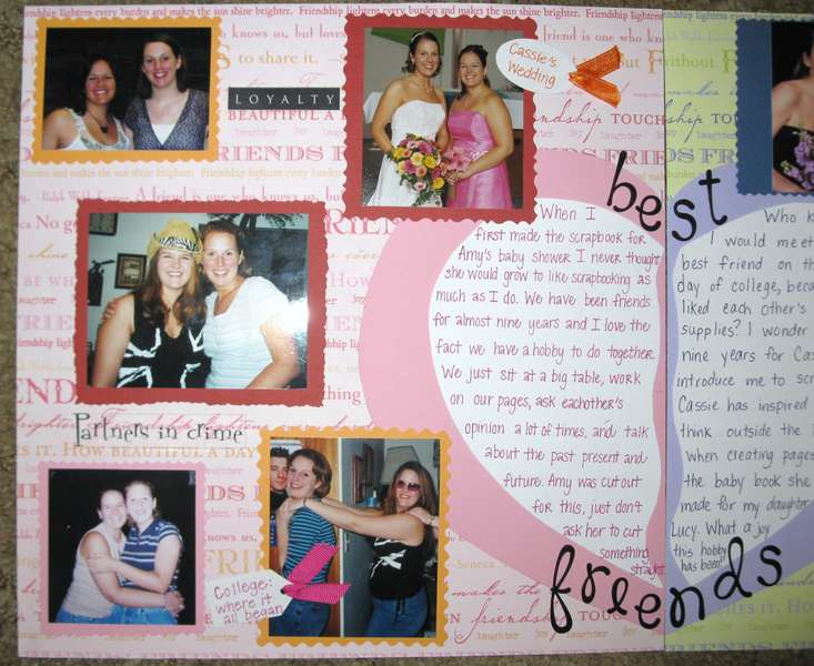 Teach a Friend to Scrapbook Contest Entry: Page One Close-up