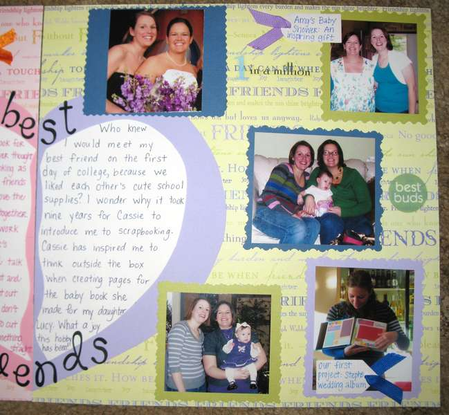 Teach a Friend to Scrapbook Contest Entry: Page 2 Close-up