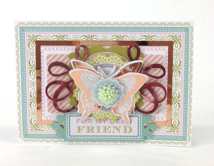 Soft Pastel Butterfly Friendship Card