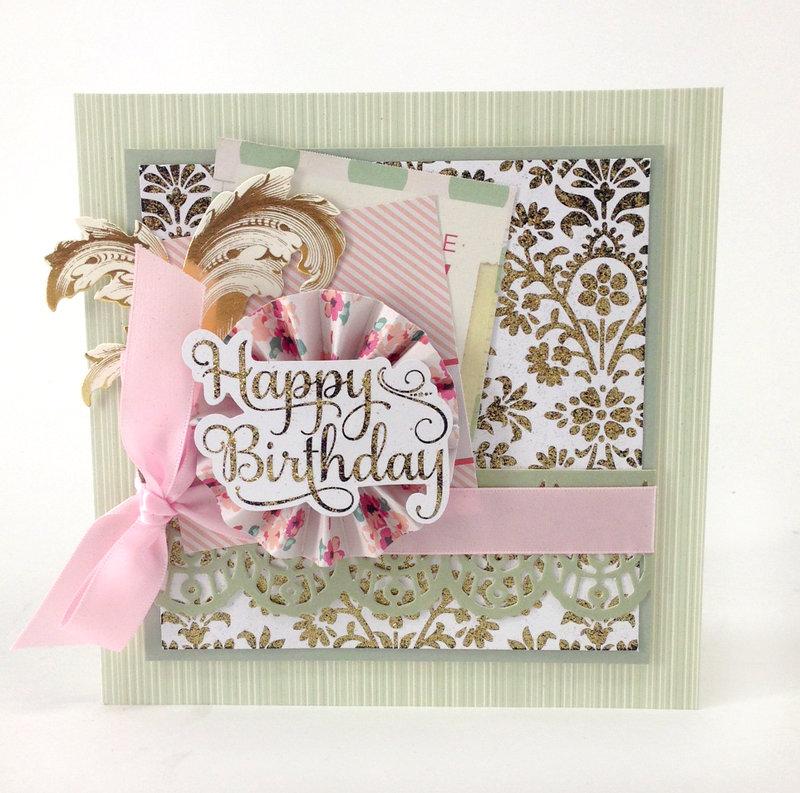 Glamorous Glitter + Perfect Pastels Birthday Card