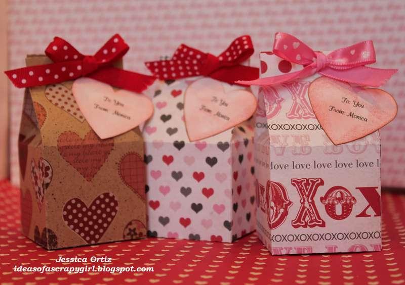 Valentine Mini milk carton treats