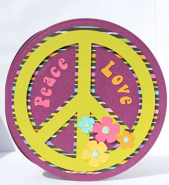 Peace and Love Invitation or Happy Birthday Card