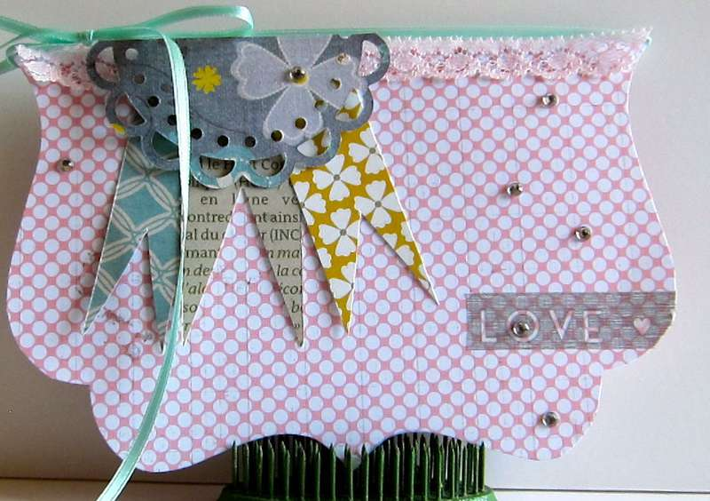 "Love Card ""Celebrating YOU"" Paper Bakery kit"