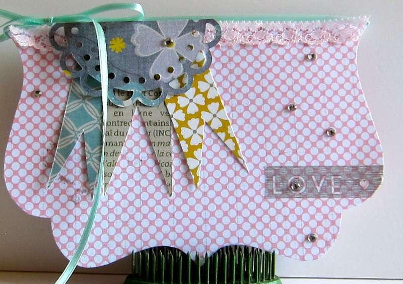 "Love Card ""Celebrating YOU"" Paper Bakery kit"