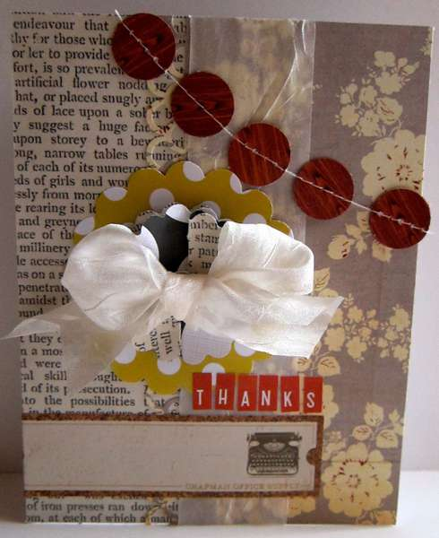 Thanks card Picket Fence May Add On Kit Paper Bakery