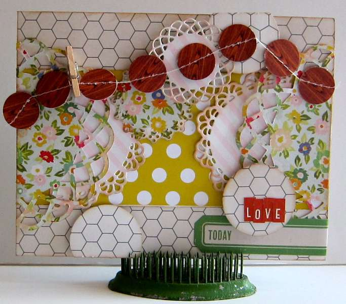 Love card Paper Bakery May Picket Fence kit