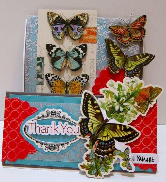 Thank You Decoupage card