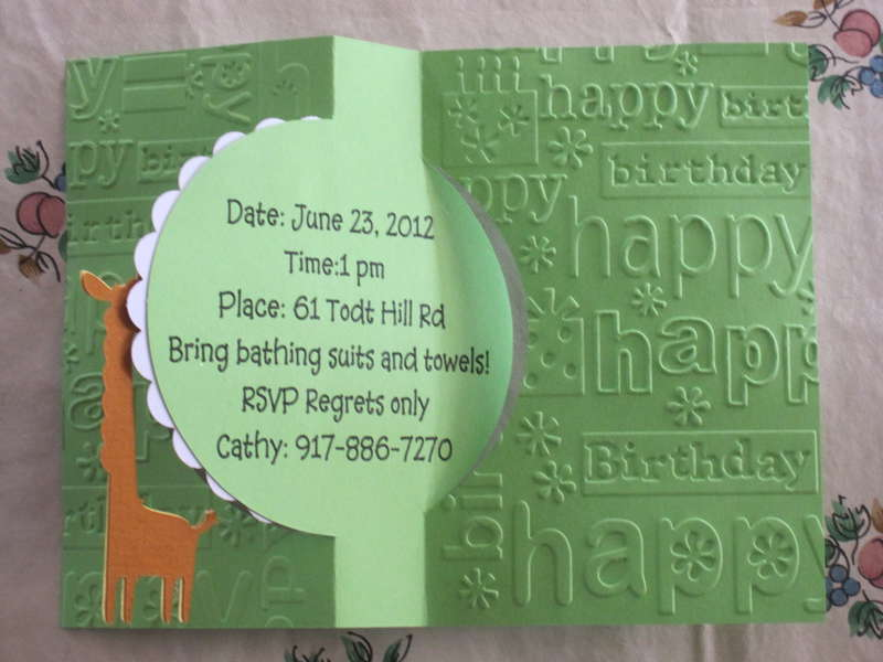 Grandkids 1st Birthday invitation