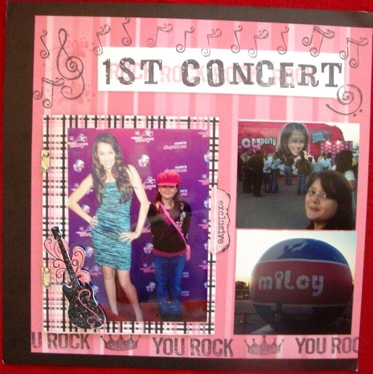 1st Concert left page close up