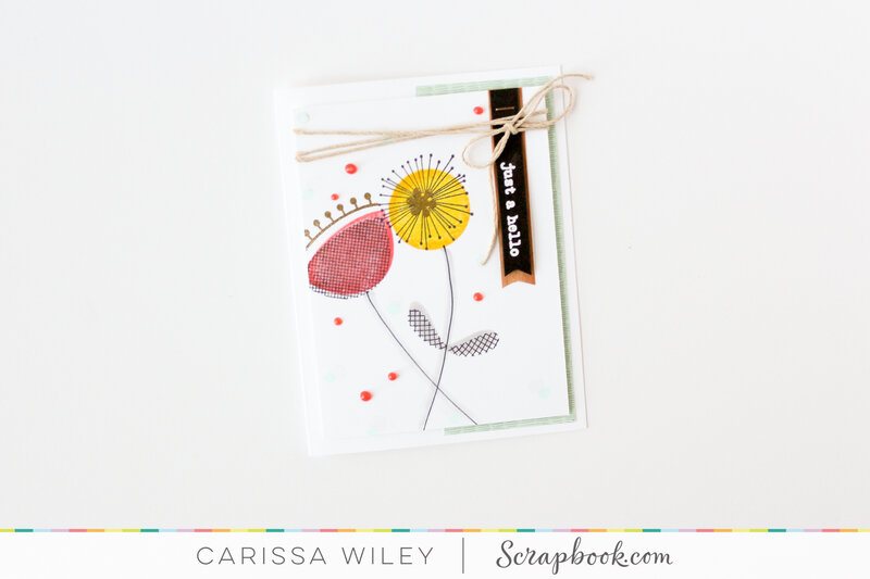 Just A Hello Simple Stamped Card