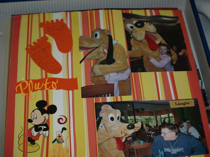 Meeting Pluto at Paradise Pier Hotel Character Breakfast