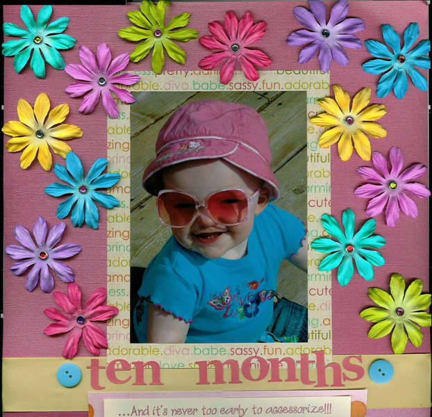 ten months:and it's never too early to accessorize