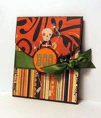 Flap Fold BOO Card