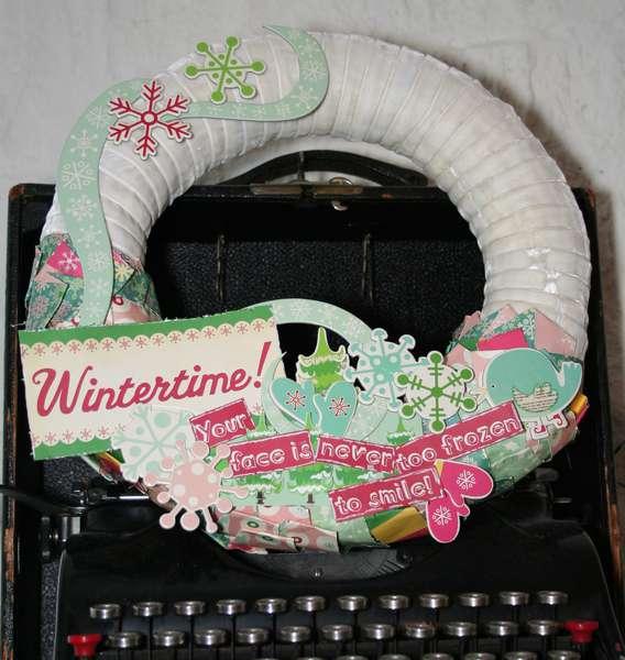 Wintertime wreath **COSMO CRICKET dt**