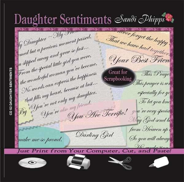 CD 52 Daughter Sentiments