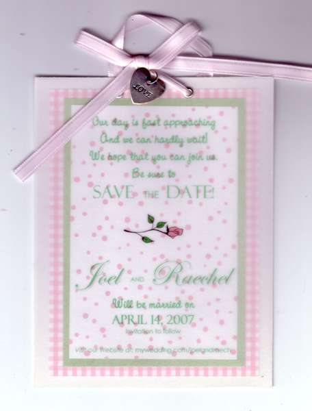 Save the Date Hanger