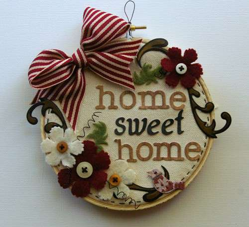 HOME SWEET HOME canvas **Spellbinders**