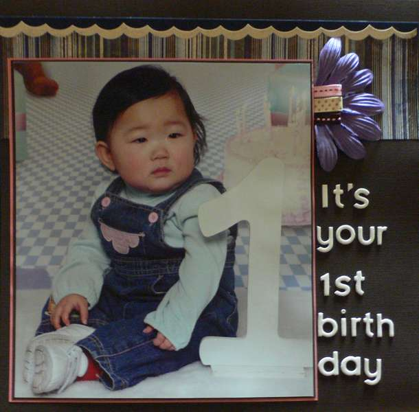 It's your 1st birthday