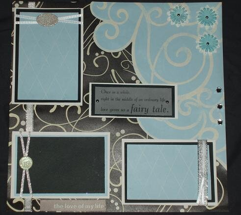 Premade Wedding Page Layout