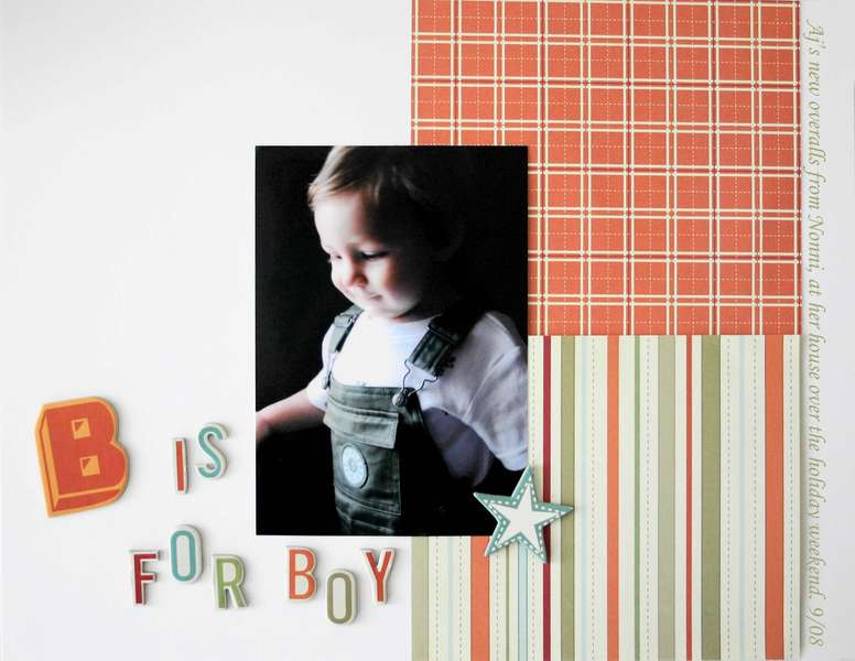 B is for Boy *New Cosmo Cricket Lil Man
